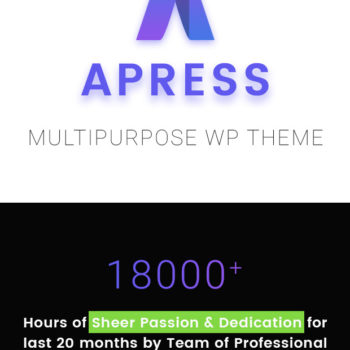 70% OFF-Apress WordPress Responsive Multi-Purpose Theme 2020