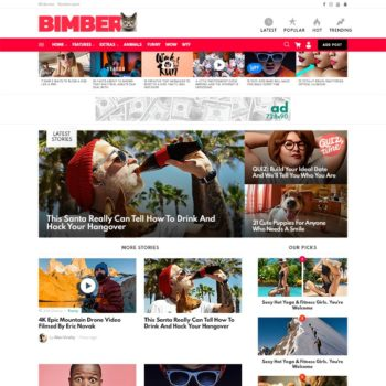 Bimber-Viral Magazine WordPress Theme Cheap Price 2020
