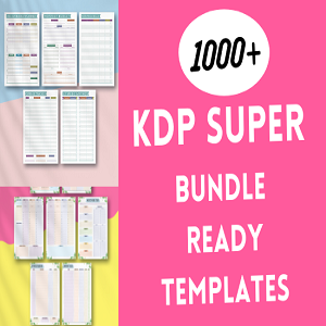 KDP super bundle 1000+ ready templates KDP interiors