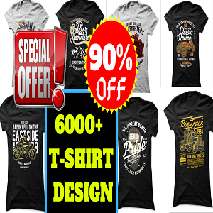 6000+New T-shirt Design Mega Bundle Cheap Price