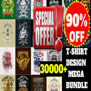 30000+T-shirt Design Mega Bundle Cheap Price