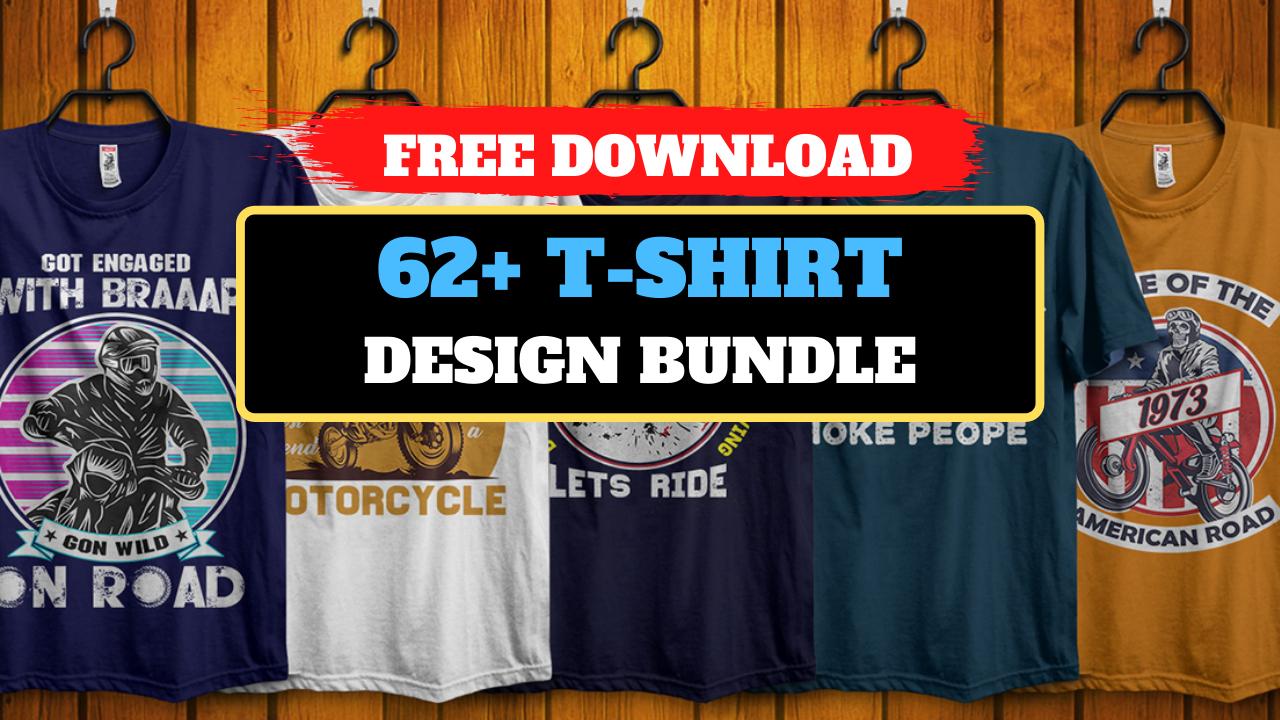 62+ Editable T-shirt Design Bundle Free Download 2021