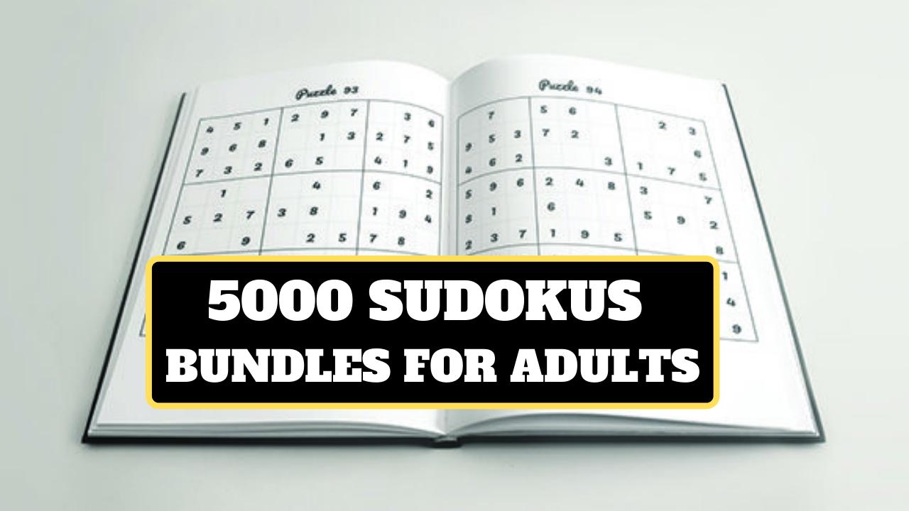 KDP 5000 Sudokus Bundle for Adults Free Download