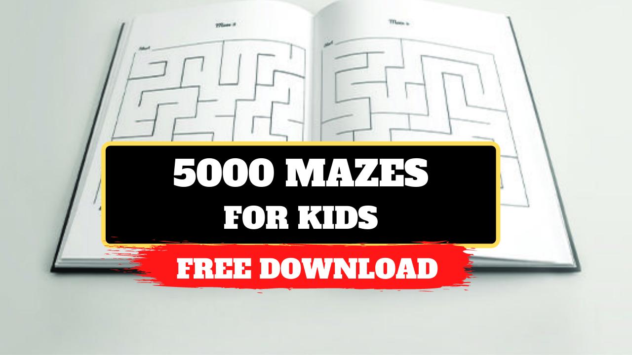 5000 Mazes KDP Bundle for Kids Graphic Free Download