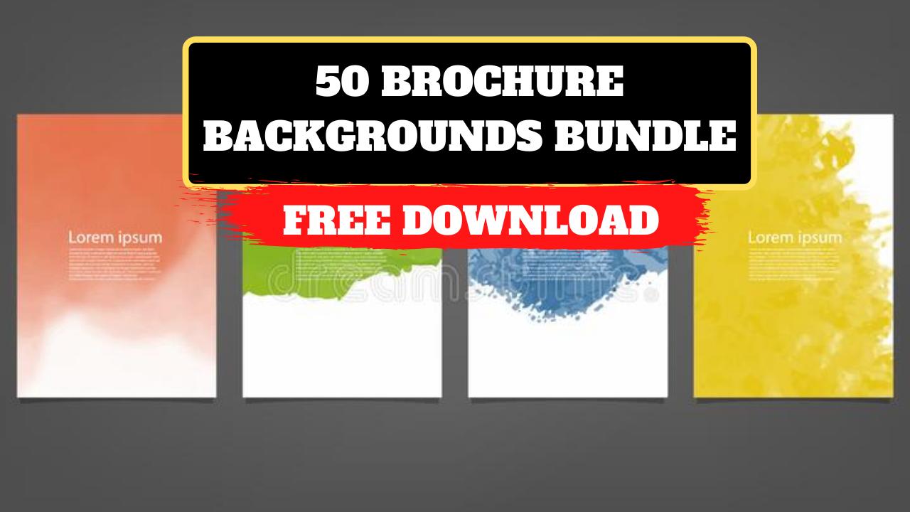 50 Brochure Backgrounds Bundle free download