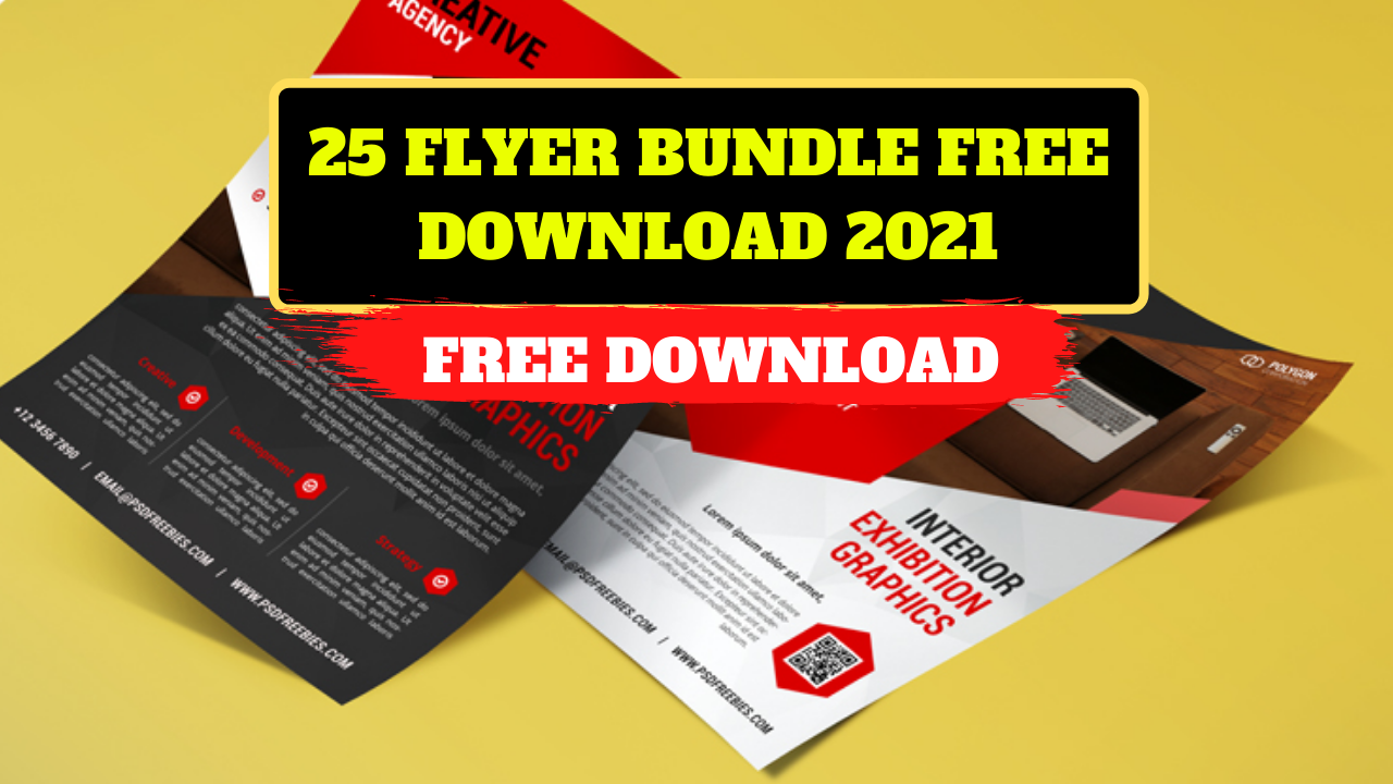 25 Flyer Bundle Free Download 2021