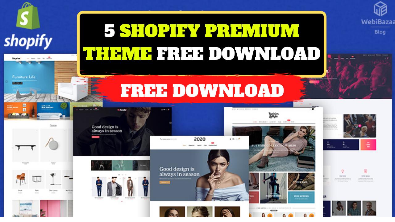 5 Shopify Premium Theme free download